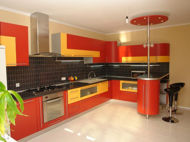 Сочетание цветов интерьере кухни