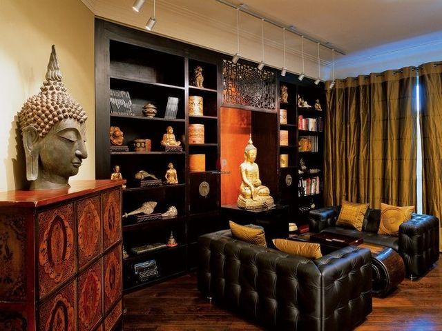 этнический стиль в интерьере городской квартиры