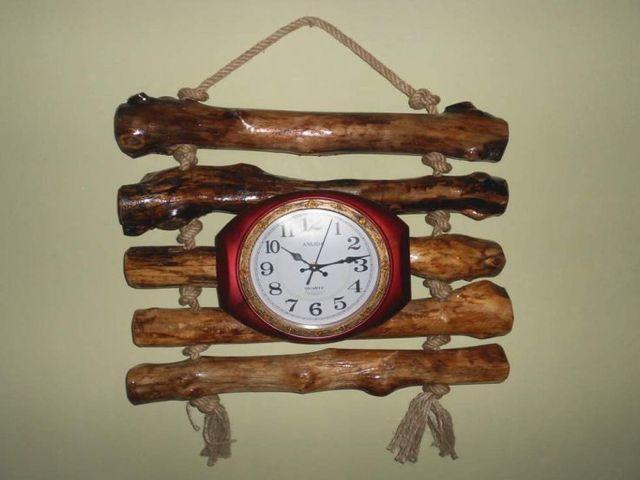 деревянные часы ручной работы