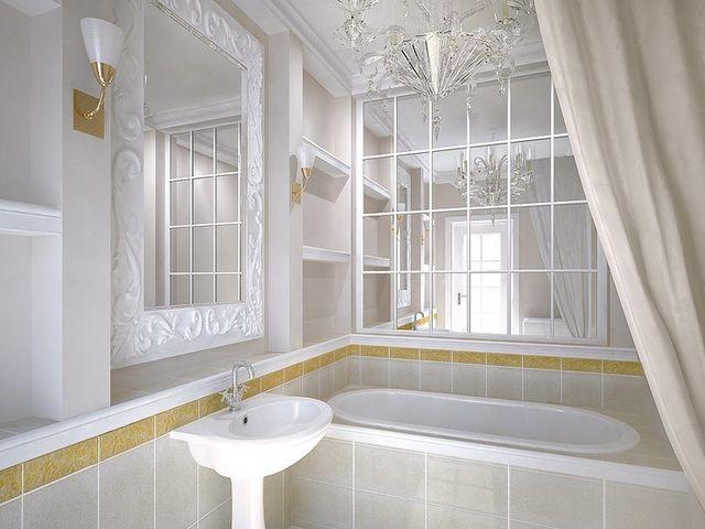 маленькая ванная в светлых тонах