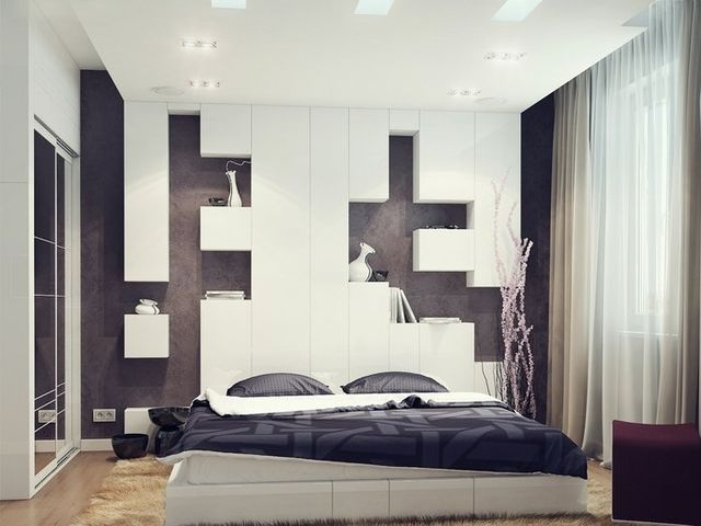 Интерьер спальни 2 на 2