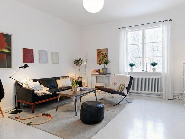 минимум мебели в норвежском интерьере