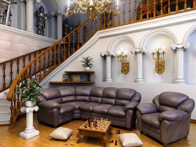 торжественная гостиная в романском стиле