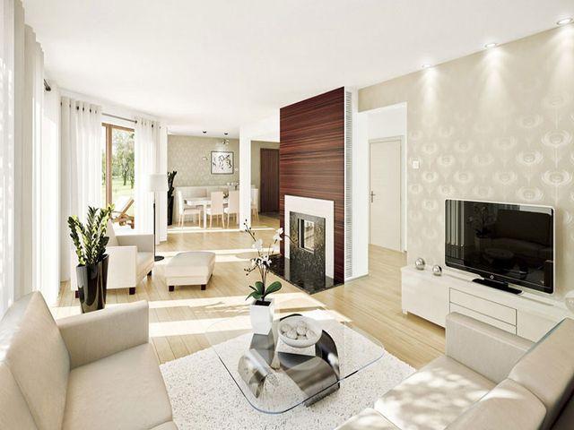 просторный дом, оформленный в стиле хай тек