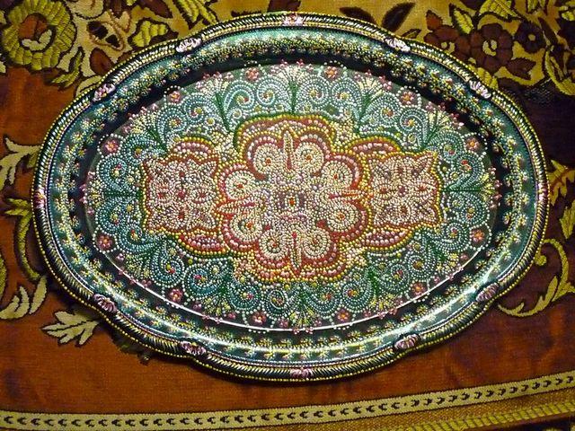 поднос в марокканском стиле