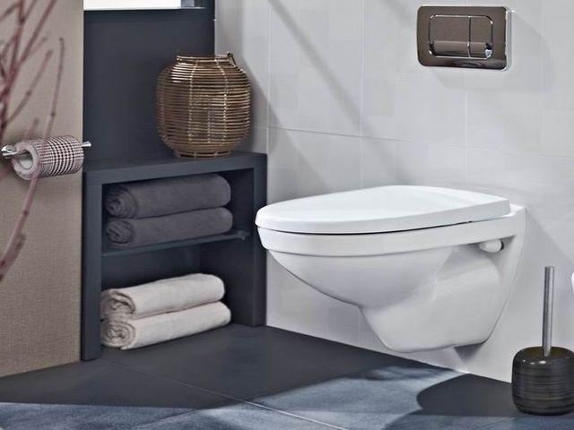 мини унитаз в интерьере маленькой ванны