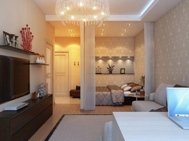 спальная комната в нише