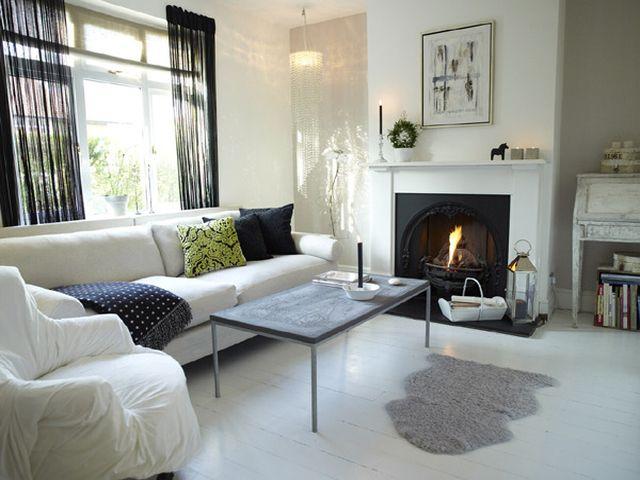 кантри мебель с накидками в гостиной