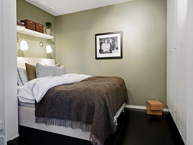 минималистичная скандинавская спальня