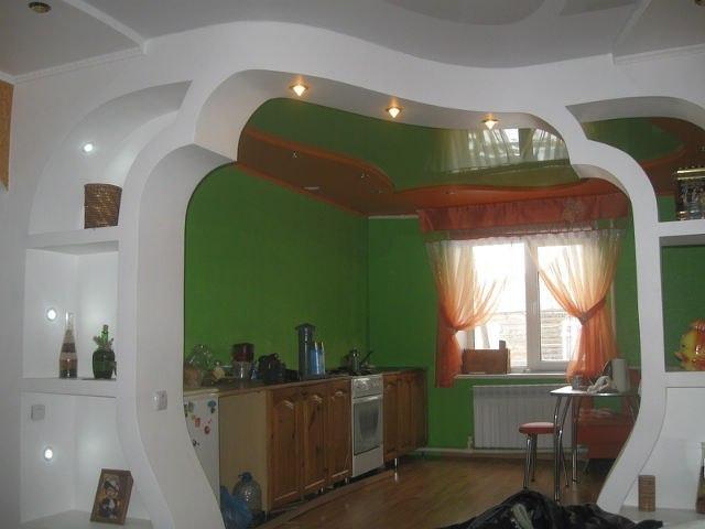 Потолки из гипсокартона фото арки