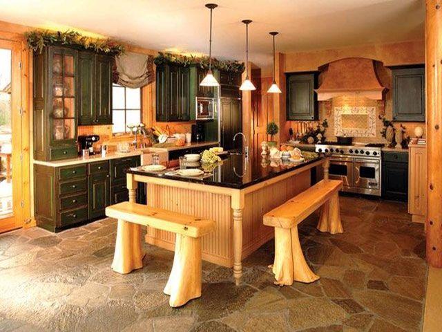 натуральная древесина в деревенском интерьере