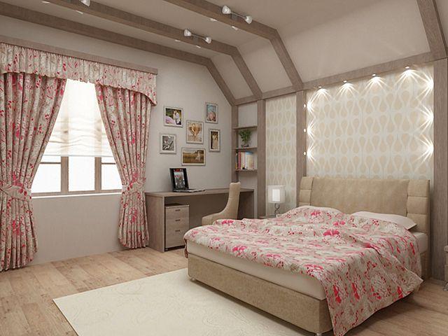 спальня в итальянском деревенском стиле