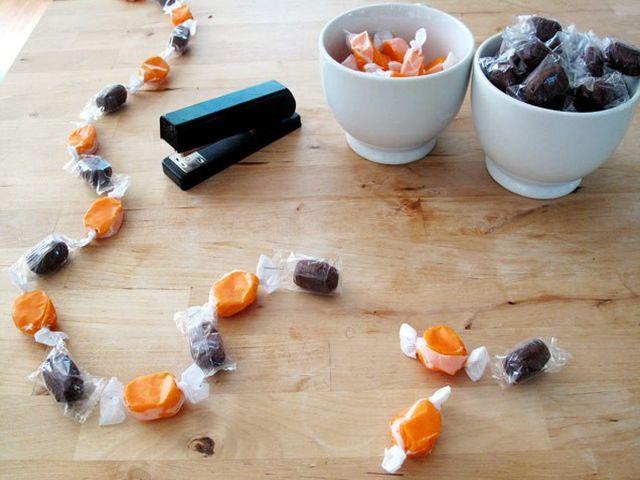 гирлянда из конфет