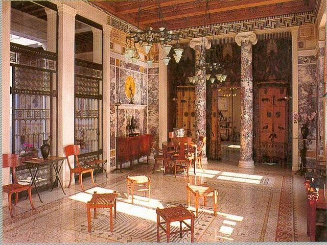 мозаика на полу в греческом интерьере
