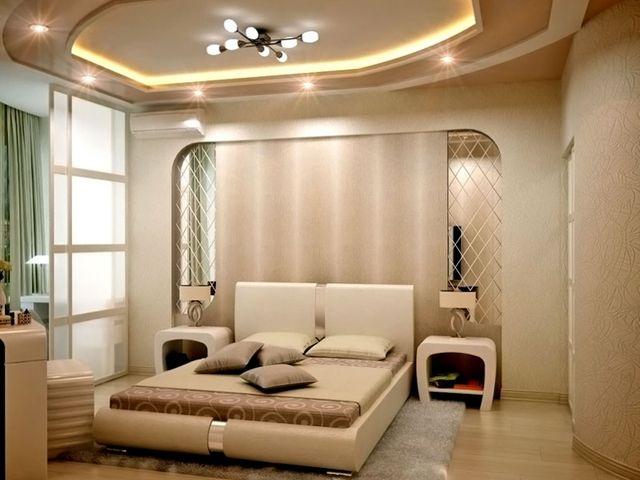 гипсокартоновый потолок в спальне