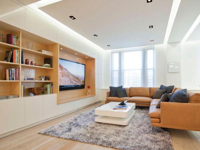 комната с гипсокартоновым потолком