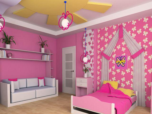 гипсокартоновый потолок в детской