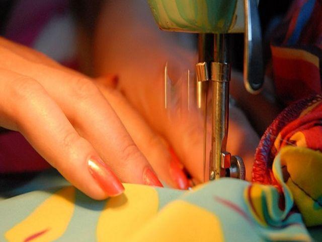 процесс пошива римской шторы