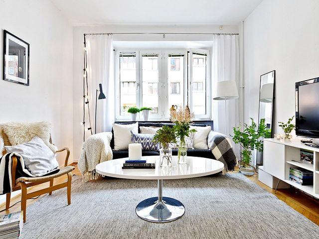 гостиная в шведском стиле