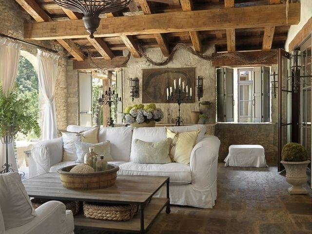 гостиная в тосканском стиле