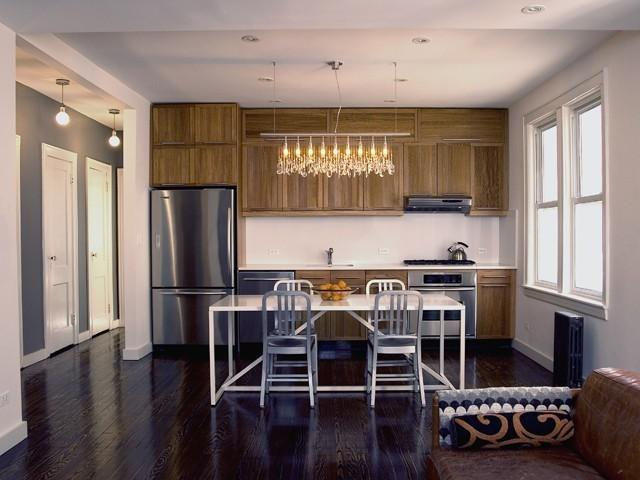 кухня, объединенная с комнатой