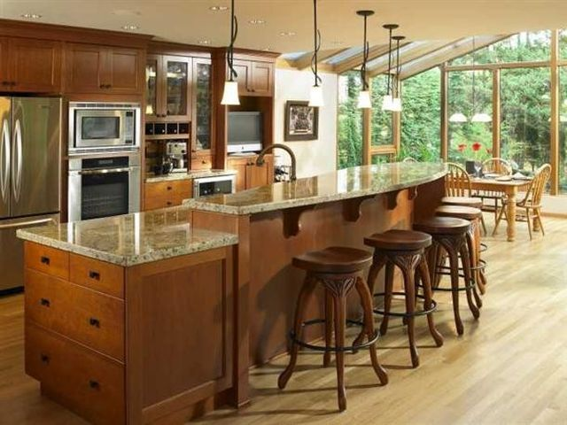 Outstanding Marvelous Shaped Kitchen Island Designs