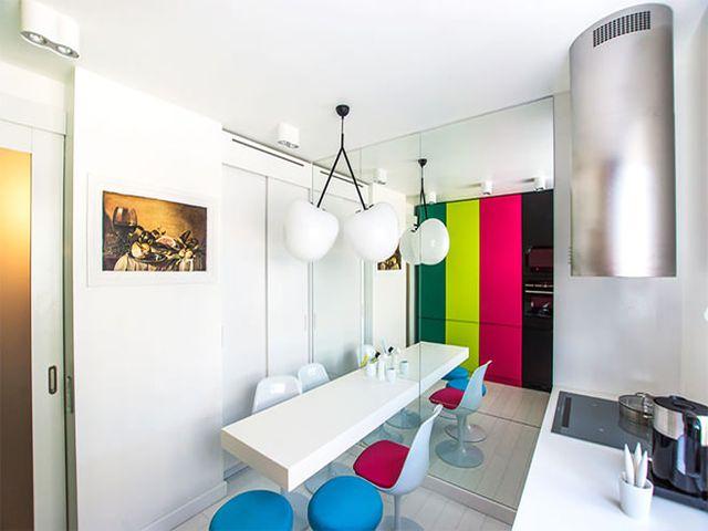 интерьер маленькой кухни в стиле минимализм