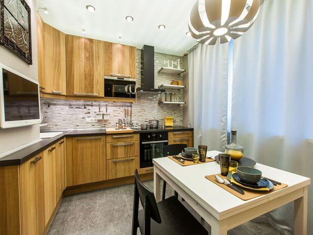красивые фасады в интерьере кухни