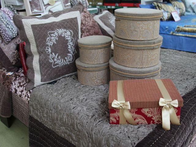 Коробочки, декорированные тканью