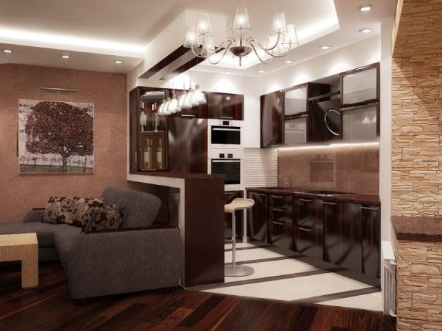 точечное освещение рабочей поверхности на кухне