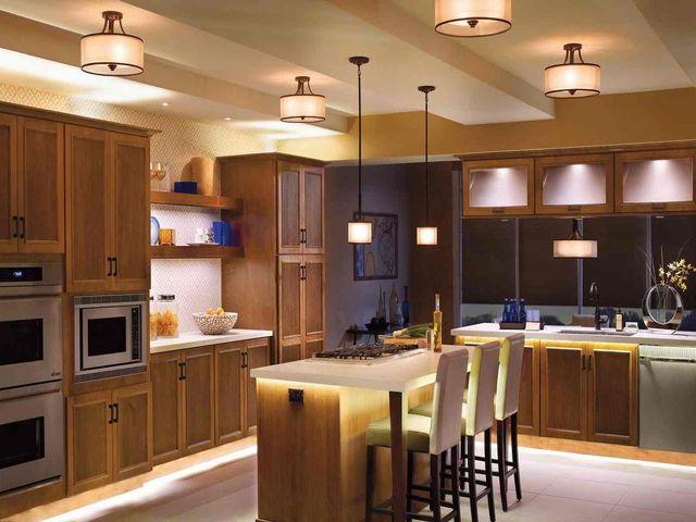 кухонный остров с подсветкой