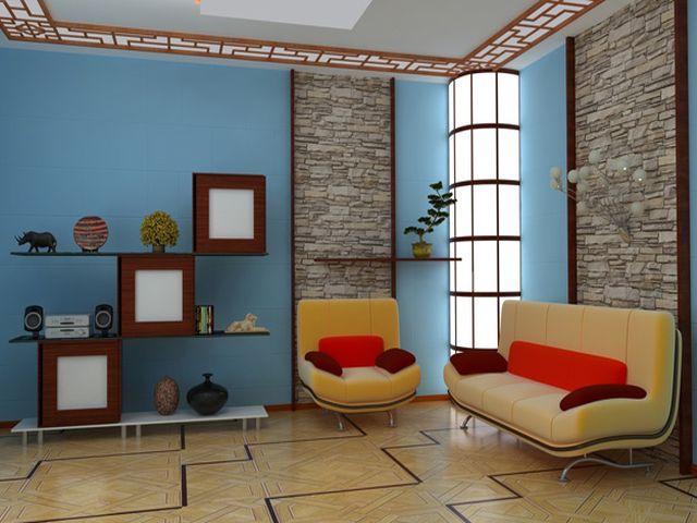 просторная квадратная гостиная