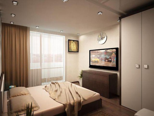 Интерьер спальни 13 кв. м