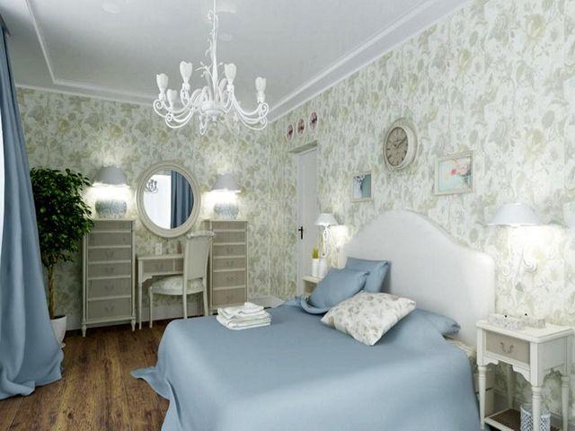 небольшая спальня в стиле прованс