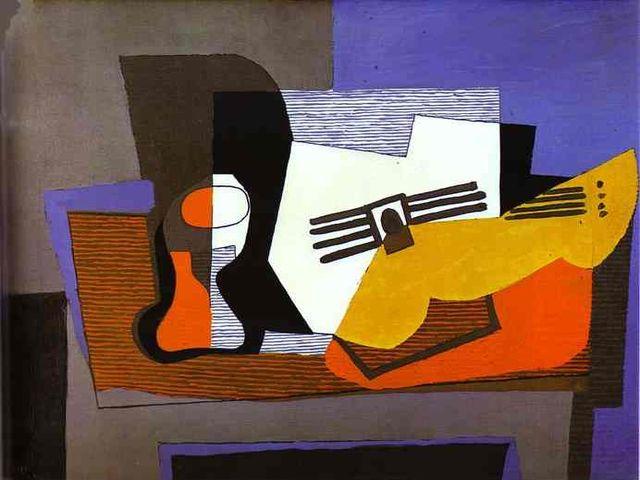 работа Пабло Пикассо в стиле кубизм
