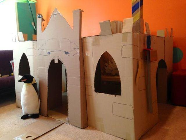 Замок из коробок своими руками картинки 8