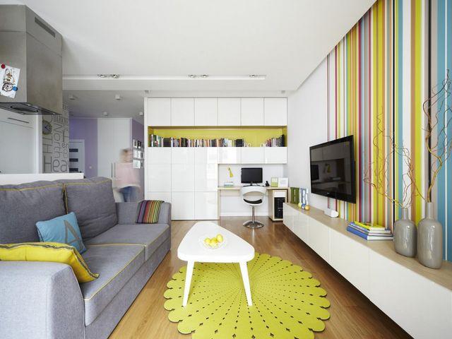 маленькая квартира-студия в светлых тонах