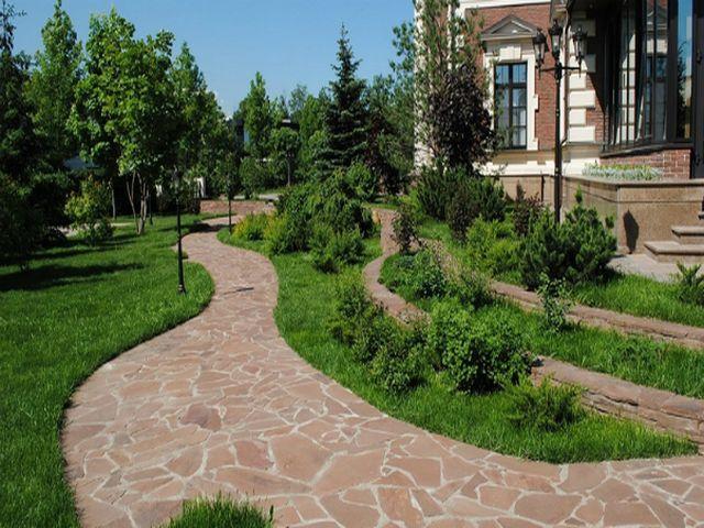 дизайнерские садовые дорожки с пластушкой