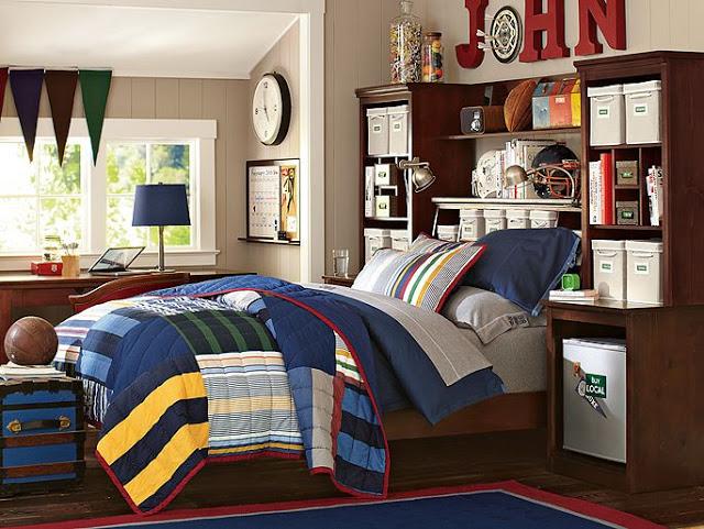 Современный стиль в подростковой комнате мальчика