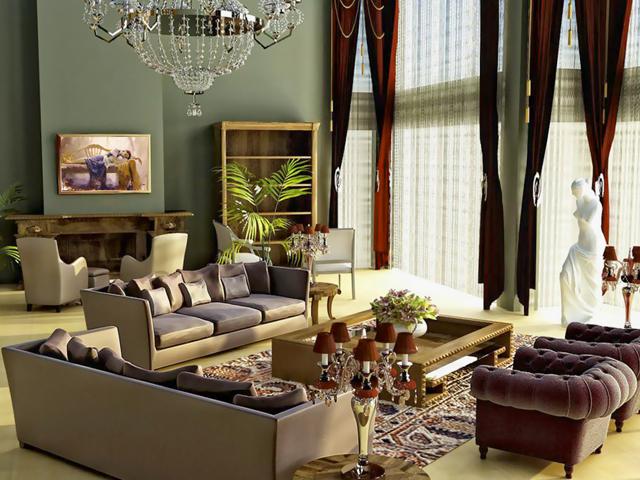 Аксессуары для гостиной в классическом стиле