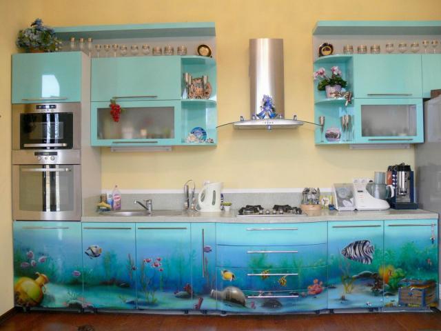 «Морская» кухонная мебель