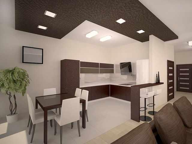 Гостиная, совмещённая с другими комнатами