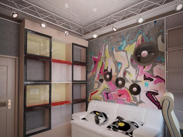 Стена в подростковой комнате