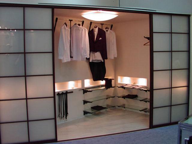 Освещение гардеробной