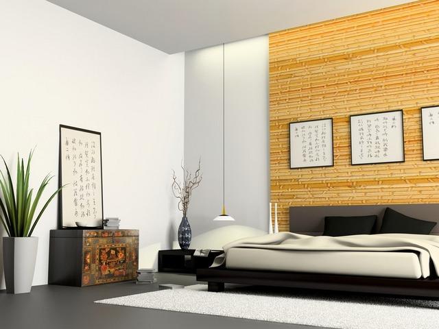 Дневной свет спальни в эко стиле