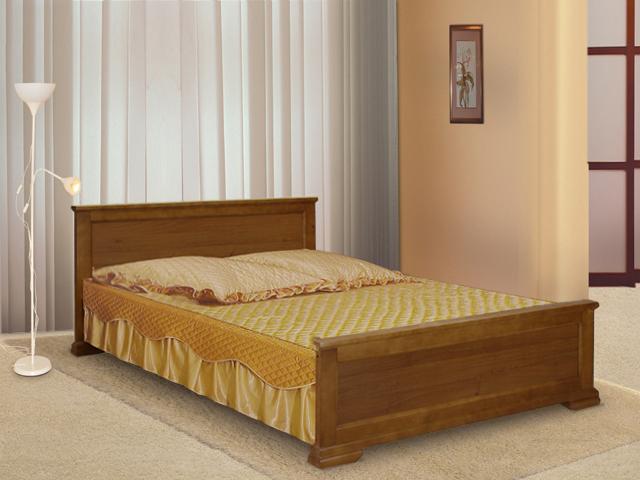 Деревянная кровать для эко спальни