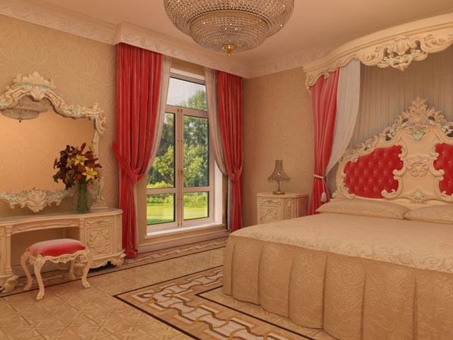 Украшения в спальне в стиле барокко