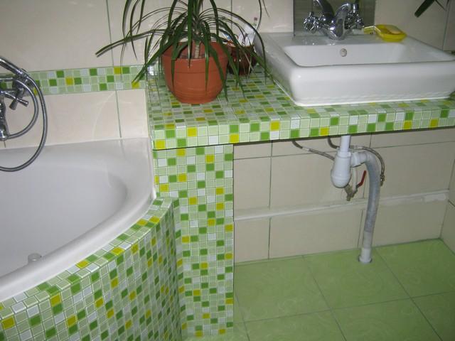 Облицовка раковины керамической плиткой