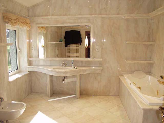 Ванная литьевая мраморная