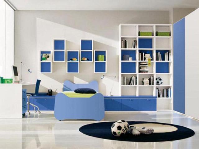 Дизайн детской комнаты для подростка в стиле хай-тек